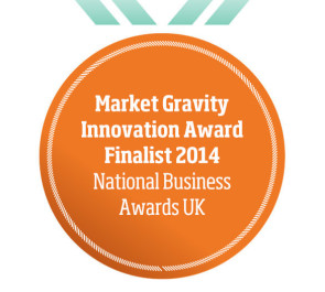 Market Gravity Innovation Award Finalist 2014 National Business Awards UK