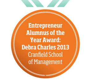 Entrepreneur Alumnus of the Year Award: Debra Charles 2013 Cranfield School of Management