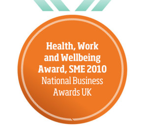 Health, Work and Wellbeing Award, SME 2010 National Business Awards UK
