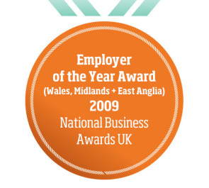 Employer of the Year Award (Wales, Midlands + East Anglia) 2009 National Business Awards UK