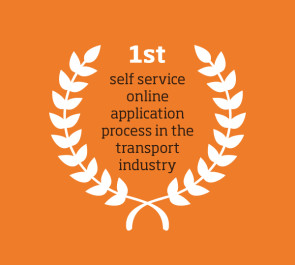 1st self service online application process in the transport industry