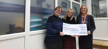RSPCA Northamptonshire benefits from £3002 Novacroft fundraising
