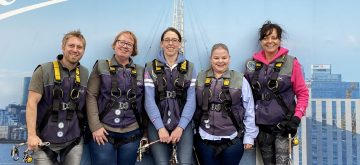 £600 raised for charity by Novacroft team scaling London's O2