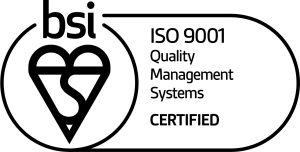 BSI 9001 Quality Management Systems certified